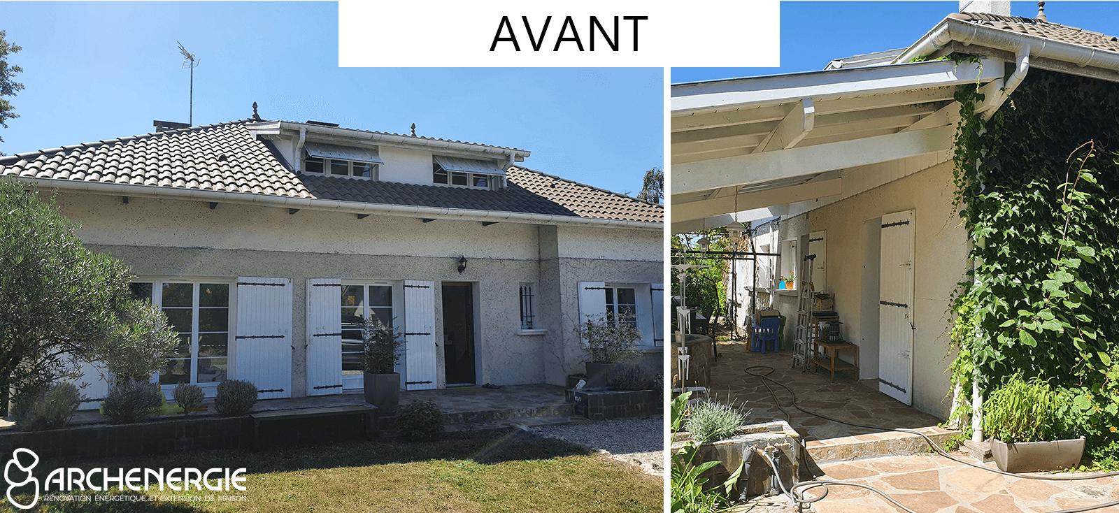 avant rénovation globale St Médard en Jalles